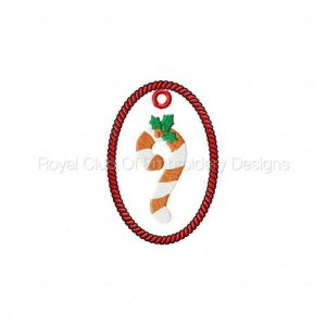 Royal Club Of Embroidery Designs - Machine Embroidery Patterns Christmas Ornaments 2 Set