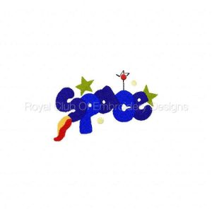 Royal Club Of Embroidery Designs - Machine Embroidery Patterns Outer Space Set
