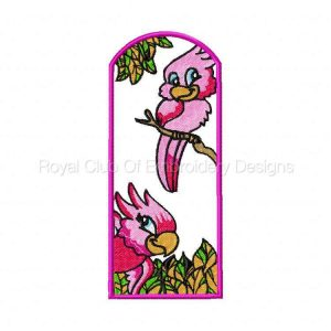 Royal Club Of Embroidery Designs - Machine Embroidery Patterns Parrot Bookmarkers Set