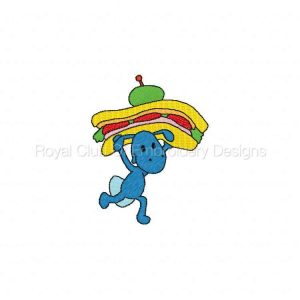 Royal Club Of Embroidery Designs - Machine Embroidery Patterns DD Party Ants Set
