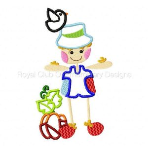 Royal Club Of Embroidery Designs - Machine Embroidery Patterns Patchy Scarecrows Set