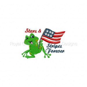 Royal Club Of Embroidery Designs - Machine Embroidery Patterns Patriotic Froggies Set