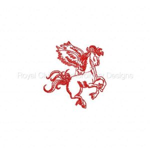 Royal Club Of Embroidery Designs - Machine Embroidery Patterns Pegasus Outlines Set