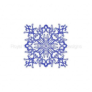 Royal Club Of Embroidery Designs - Machine Embroidery Patterns Persian Square Blocks Set