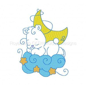 Royal Club Of Embroidery Designs - Machine Embroidery Patterns Partial Filled Bears Set