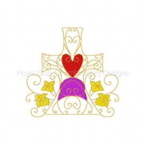 Royal Club Of Embroidery Designs - Machine Embroidery Patterns Partially Filled Easter Crosses Set