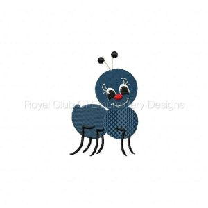 Royal Club Of Embroidery Designs - Machine Embroidery Patterns Picnic Ants Set