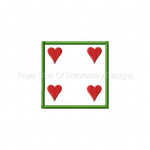Royal Club Of Embroidery Designs - Machine Embroidery Patterns Poker Coasters Set
