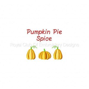 Royal Club Of Embroidery Designs - Machine Embroidery Patterns Pumpkin Pie Spice Set