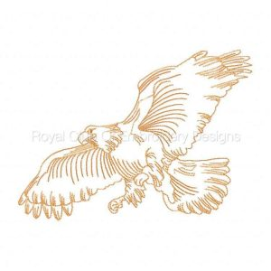 Royal Club Of Embroidery Designs - Machine Embroidery Patterns DD Realistic Eagles Set