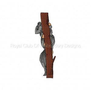 Royal Club Of Embroidery Designs - Machine Embroidery Patterns DD Realistic Squirrels Set