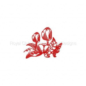 Royal Club Of Embroidery Designs - Machine Embroidery Patterns DD Realistic Tulips Set
