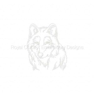 Royal Club Of Embroidery Designs - Machine Embroidery Patterns Realistic Wolves Set