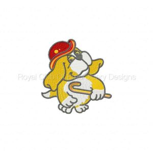 Royal Club Of Embroidery Designs - Machine Embroidery Patterns DD Red Hat Beagles Set