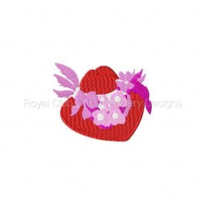 Royal Club Of Embroidery Designs - Machine Embroidery Patterns Red Hats 2 Set