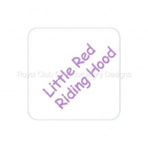 Royal Club Of Embroidery Designs - Machine Embroidery Patterns Red Riding Hood Set