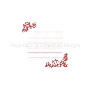 Royal Club Of Embroidery Designs - Machine Embroidery Patterns Redwork Cards Set