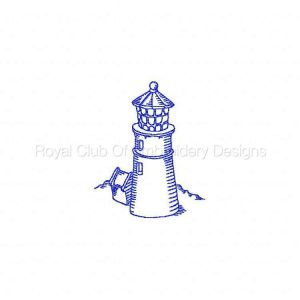Royal Club Of Embroidery Designs - Machine Embroidery Patterns RW Light Houses Set