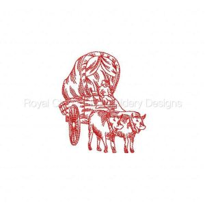 Royal Club Of Embroidery Designs - Machine Embroidery Patterns Redwork Pioneers Set