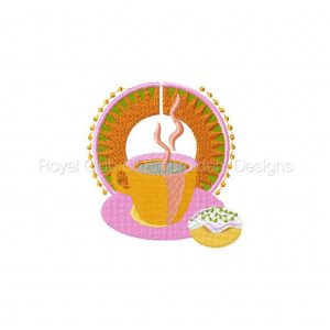 Royal Club Of Embroidery Designs - Machine Embroidery Patterns Retro Coffee Break Set