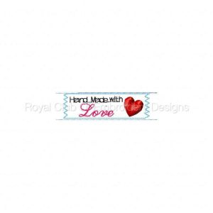 Royal Club Of Embroidery Designs - Machine Embroidery Patterns Ribbon Sewing Labels Set