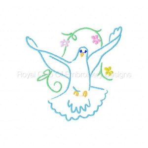 Royal Club Of Embroidery Designs - Machine Embroidery Patterns Doves Set
