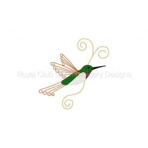 Royal Club Of Embroidery Designs - Machine Embroidery Patterns Ruby Throated Hummingbirds Set