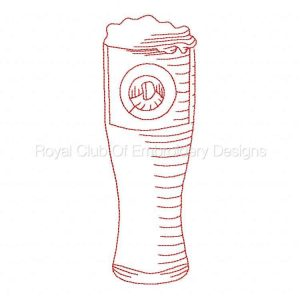 Royal Club Of Embroidery Designs - Machine Embroidery Patterns RW Beer Mugs Set