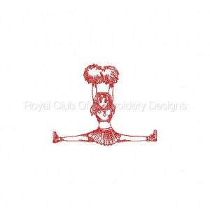 Royal Club Of Embroidery Designs - Machine Embroidery Patterns RW Cheerleaders Set