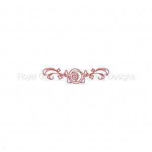 Royal Club Of Embroidery Designs - Machine Embroidery Patterns RW Floral Monogram Frames Set