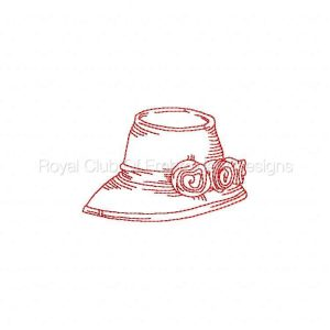 Royal Club Of Embroidery Designs - Machine Embroidery Patterns RW Hats Set