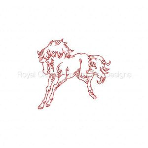 Royal Club Of Embroidery Designs - Machine Embroidery Patterns RW Horses Set