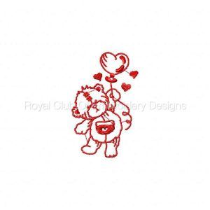 Royal Club Of Embroidery Designs - Machine Embroidery Patterns Redwork Love is in the Air Set
