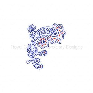 Royal Club Of Embroidery Designs - Machine Embroidery Patterns RW Paisleys Set