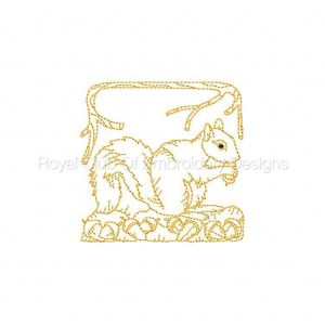 Royal Club Of Embroidery Designs - Machine Embroidery Patterns Redwork Squirrels Set