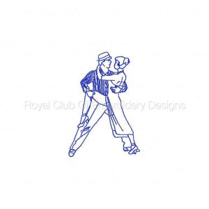 Royal Club Of Embroidery Designs - Machine Embroidery Patterns RW Tango Dancers Set