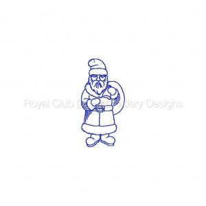 Royal Club Of Embroidery Designs - Machine Embroidery Patterns Redwork Vintage Santas Set