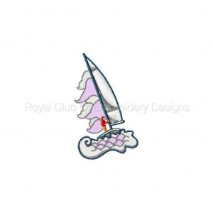 Royal Club Of Embroidery Designs - Machine Embroidery Patterns Sailboats Set