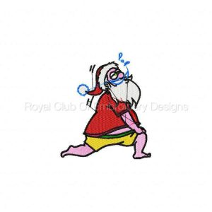 Royal Club Of Embroidery Designs - Machine Embroidery Patterns Santa In Training Set