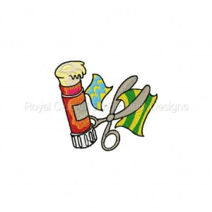 Royal Club Of Embroidery Designs - Machine Embroidery Patterns Back To School Set