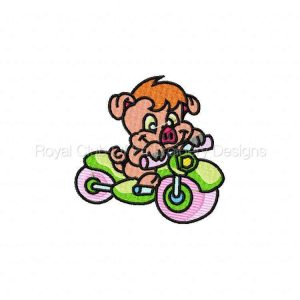 Royal Club Of Embroidery Designs - Machine Embroidery Patterns Scooter Critters Set