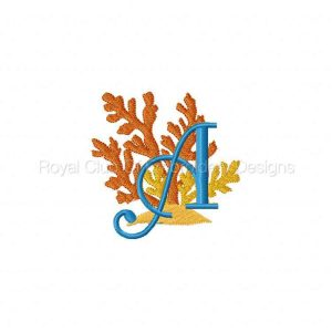 Royal Club Of Embroidery Designs - Machine Embroidery Patterns Seashore Monogram Alphabet Set