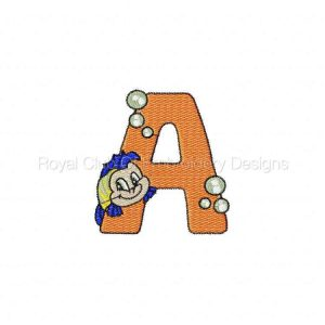 Royal Club Of Embroidery Designs - Machine Embroidery Patterns Sea World Alphabet Set
