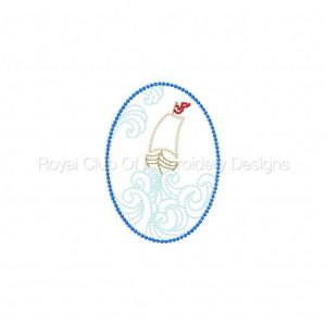 Royal Club Of Embroidery Designs - Machine Embroidery Patterns Ships At Sea Set