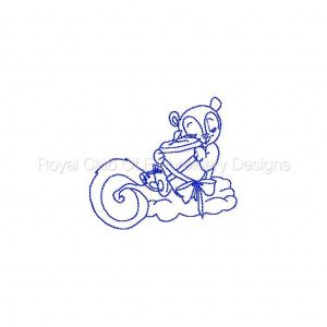 Royal Club Of Embroidery Designs - Machine Embroidery Patterns Sleepy Fall Squirrels Set