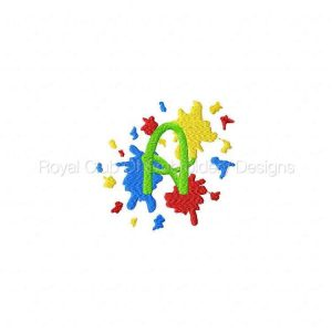 Royal Club Of Embroidery Designs - Machine Embroidery Patterns Splash Alphabet Set