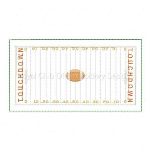 Royal Club Of Embroidery Designs - Machine Embroidery Patterns Sport Mug Rug Football Set