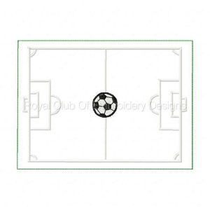 Royal Club Of Embroidery Designs - Machine Embroidery Patterns Sport Mug Rug Soccer Set
