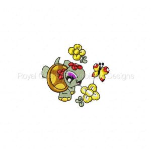 Royal Club Of Embroidery Designs - Machine Embroidery Patterns Spring Time Turtles Set