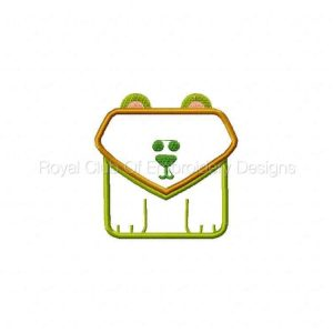 Royal Club Of Embroidery Designs - Machine Embroidery Patterns Applique Squared Animals Set